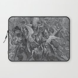 Now storming fury rose, Paradise Lost, Gustave Dore, 1866 Laptop Sleeve