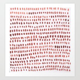 RED DOTTED PATTERN  Art Print