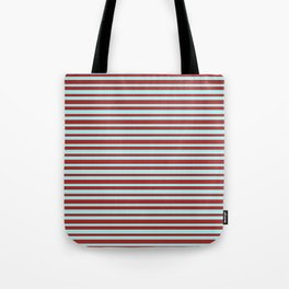 Brown & Turquoise Colored Pattern of Stripes Tote Bag