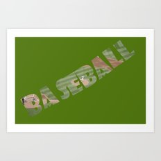 Baseball Typography Art Print