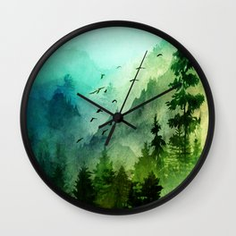 Mountain Morning Wall Clock