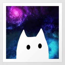 cat and space 652 Art Print