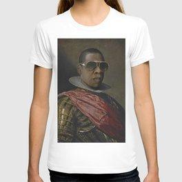 Portrait of Jay Z in Armor T-shirt