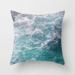 moving seawater Throw Pillow