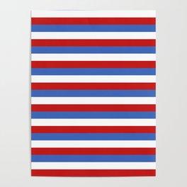 Panama Paraguay flag stripes Poster