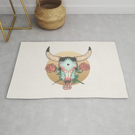 cráneo de vaca Rug