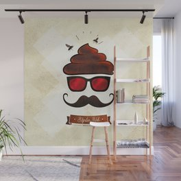 Hipster Hat Wall Mural