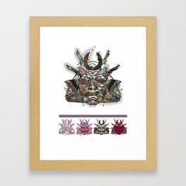 "Samurai 3. (Samurai mask ""C"" big and 4 small masks) Framed Art Print"