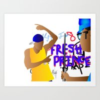 fresh prince Art Prints featuring Fresh Prince by Hannah  Aryee