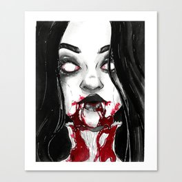 Drooling - Inktober Canvas Print