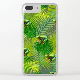 Frog Forest Clear iPhone Case