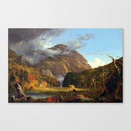 Thomas Cole A View of the Mountain Pass Called the Notch of the White Mountains (Crawford Notch) Canvas Print