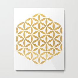 FLOWER OF LIFE sacred geometry Metal Print