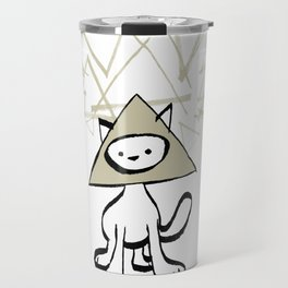 minima - pyramid cat Travel Mug