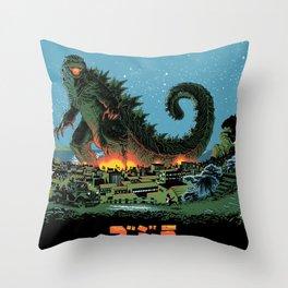 Godzilla - Blue Edition Throw Pillow
