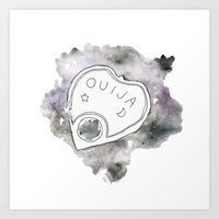 ouija Art Prints featuring Ouija by Rebecca Louise