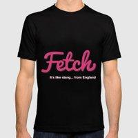 Fetch Black Mens Fitted Tee MEDIUM