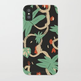 Jungle pattern iPhone Case