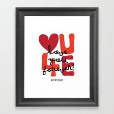 Love You Forever Framed Art Print