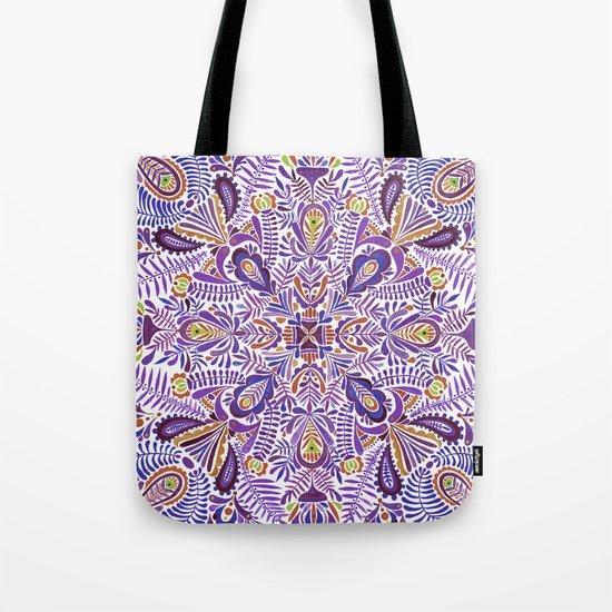 Gloomy purple mandala pattern Tote Bag