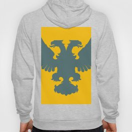 blue-gray double-headed eagle on yellow background Hoody