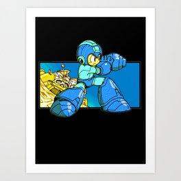 Mega-Buster Art Print