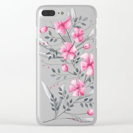Flowers Clear iPhone Case