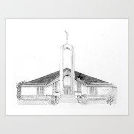 Freiberg Germany LDS Temple Art Print