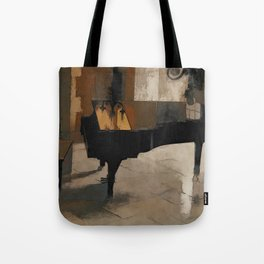 Grand Piano Artwork Tote Bag