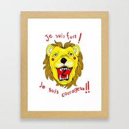 Brave Leo! Framed Art Print