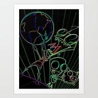 invader zim Art Prints featuring invader zim by jjb505