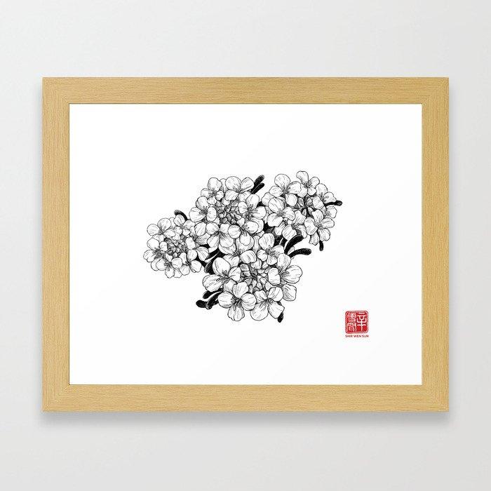 Candy Turf Flowers Framed Art Print