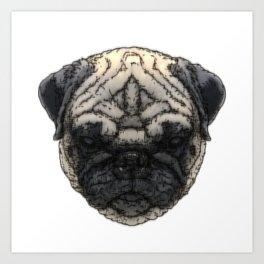 Pug-K Art Print