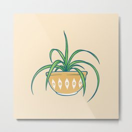 Spider Plant Metal Print