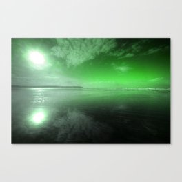 Woolacombe Beach with Green  Canvas Print