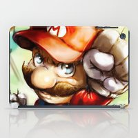 super mario iPad Cases featuring Super Mario by markclarkii