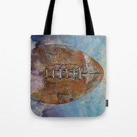 football Tote Bags featuring Football by Michael Creese