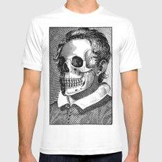 Mr Bones II MEDIUM White Mens Fitted Tee