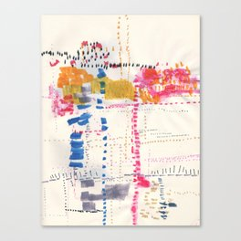 Map To Morocco. Second Stage.  Canvas Print