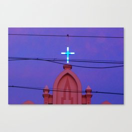 Our wires have crossed Canvas Print