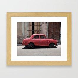 Cuban Red Car Framed Art Print