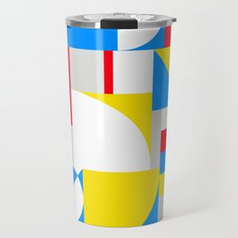 Bold Bauhaus Brights Travel Mug