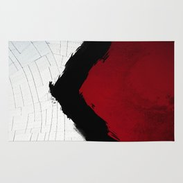 BLOOD RED RIBBON Rug