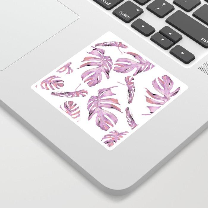 Monstera Pattern Pink #society6 #buyart Sticker