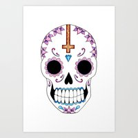 atheist Art Prints featuring ATHEIST by Alice Suttle