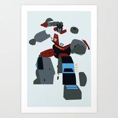Transformers G1 - Autobot Red Alert Art Print