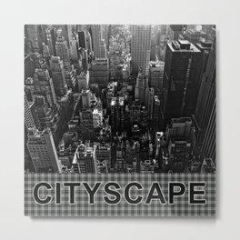 Get Yo Life Cityscape Metal Print