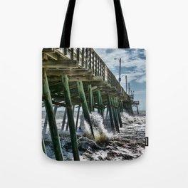 Bogue Inlet Pier Tote Bag