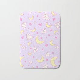 Sailor Moon Usagi Bunny and the Moon pattern print Bath Mat