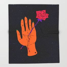 Wounded Hand // Space Throw Blanket